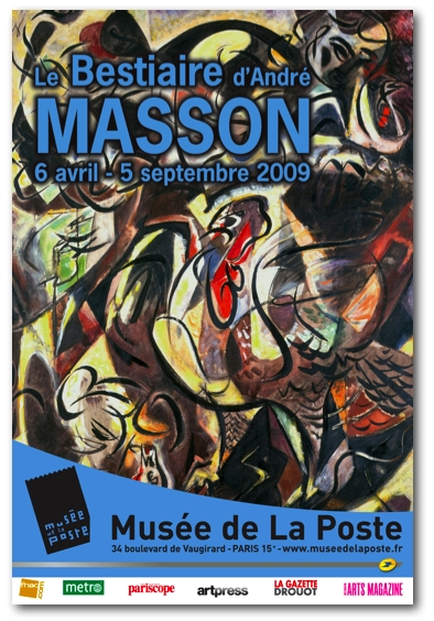Le Bestiaire d'André Masson - Musée de la Poste - Paris dans EXPOSITIONS massonaffiche